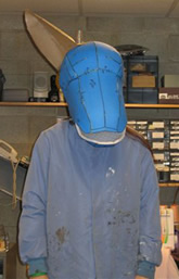 Lehigh University Costume Shop - process for creating ass' head - initial foam form